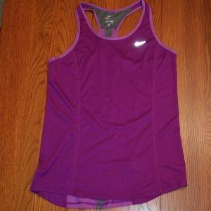 Nike Dri-Fit Purple Tank, M